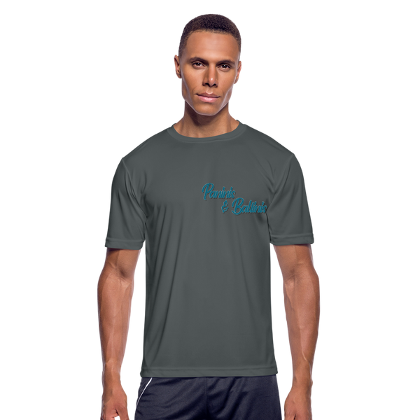 Paninis and Ballinis - Men's Moisture Wicking Performance T-Shirt - charcoal