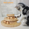 Interactive Wooden Cat Toy