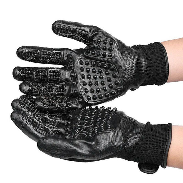 Pet Brush Grooming Gloves - UsefulPoint