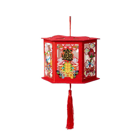 Lanterne Chinoise Rouge Pompon