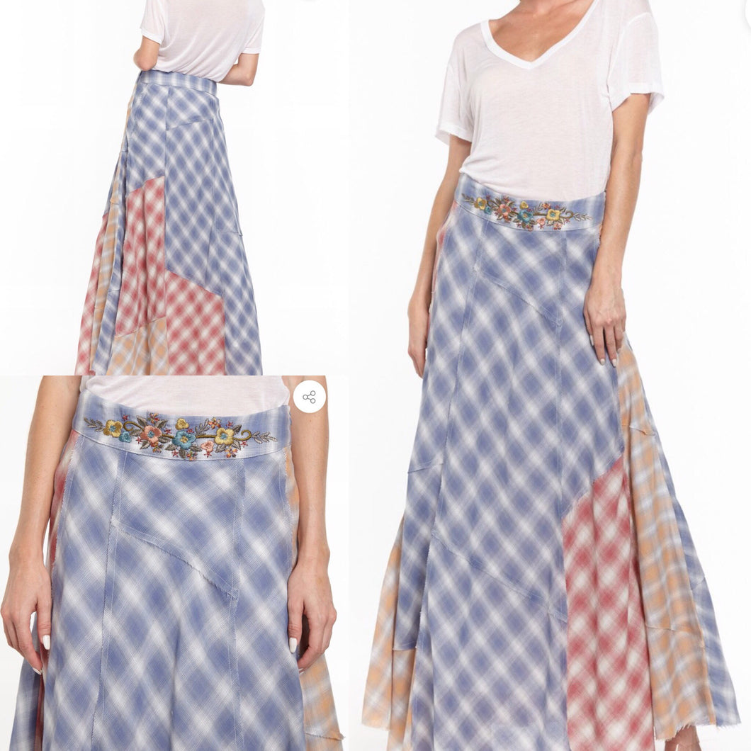 Maxi Patch Work Skirt.