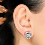 92.5 Heart Solitaire Studs - Zevar King