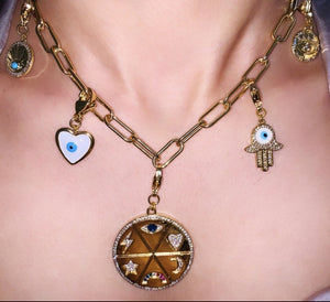 Load image into Gallery viewer, Link Chain Detachable Charms Necklace - Zevar King
