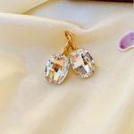 Silver Swarovski earrings - Zevar King