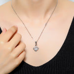 92.5 Spinning Diamonds Solitaire Pendant - Zevar King