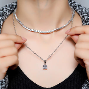 92.5 Princess Cut Pendant