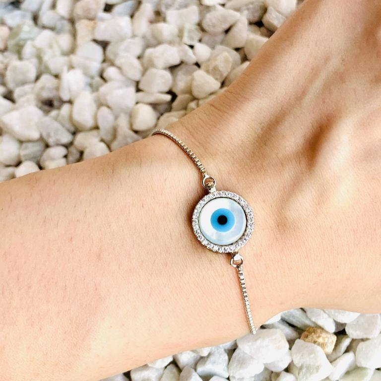 Evil Eye Bracelet / Necklace / Hand Mangalsutra - Zevar King