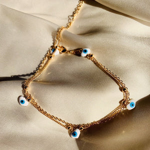 Evil Eye Heart Anklet