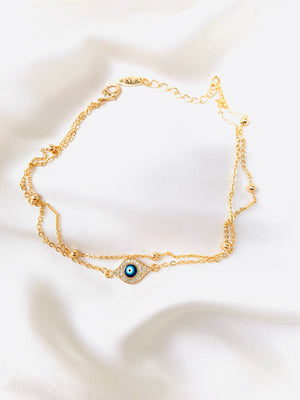 Load image into Gallery viewer, Evil Eye Anklet