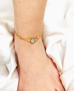 Evil Eye Anklet - Zevar King