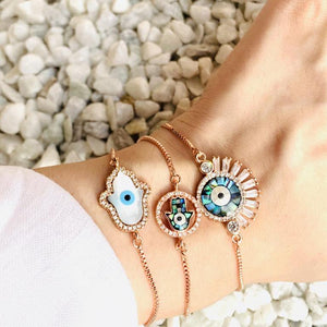 Evil Eye Bracelets  / Necklace / Hand Mangalsutra - Zevar King