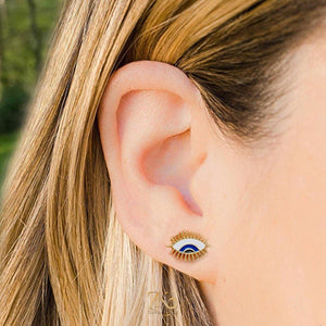 Evil Eye Studs / Earrings - Zevar King