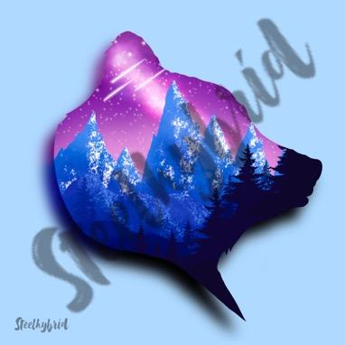 Bear Mountains Digital Print - Steelhybrid
