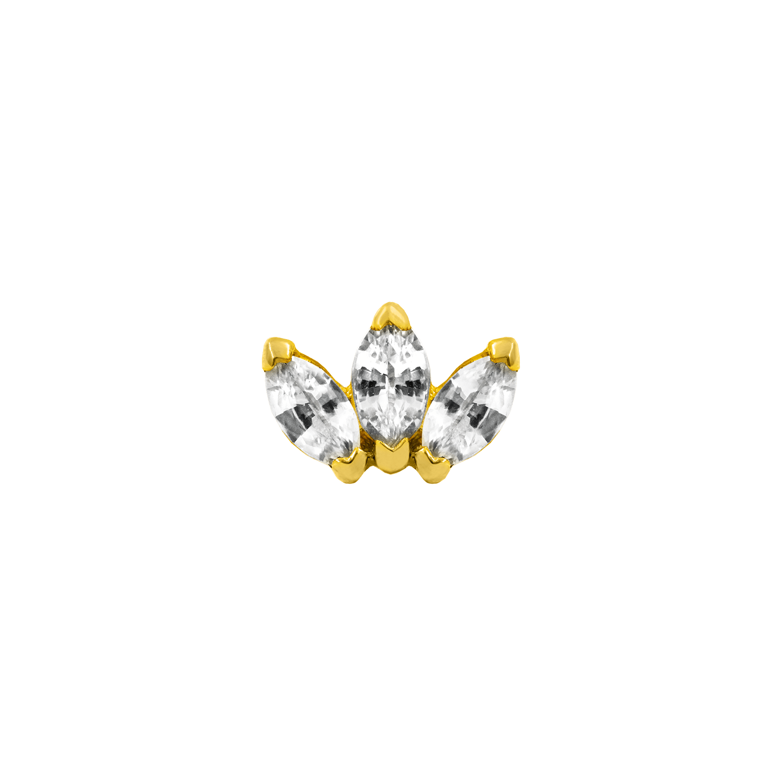 14k JUNIPURR GOLD TRIPLE MARQUISE CZ Attachment
