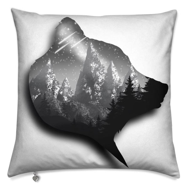 Art decorative cushion Bear Mountain
