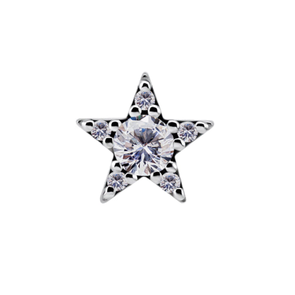Nickel Free Threadless Gem Star (Cobalt Chromium)