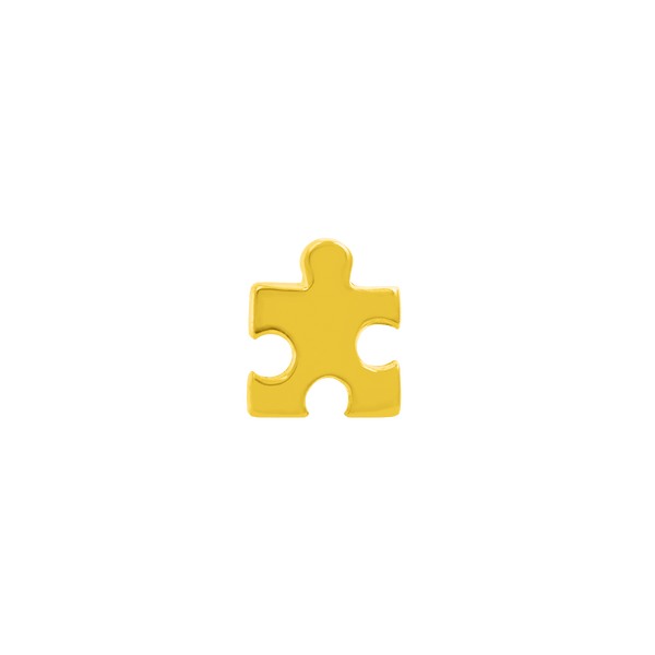 14k Yellow Gold Junipurr Puzzle Piece - Steelhybrid
