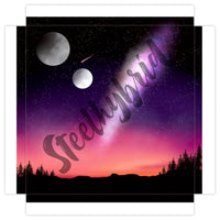 Art Print Canvas Digital Water Colour Starry Night Painting