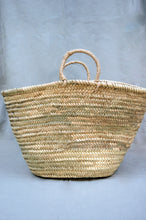 Load image into Gallery viewer, Straw Basket with Natural Handles