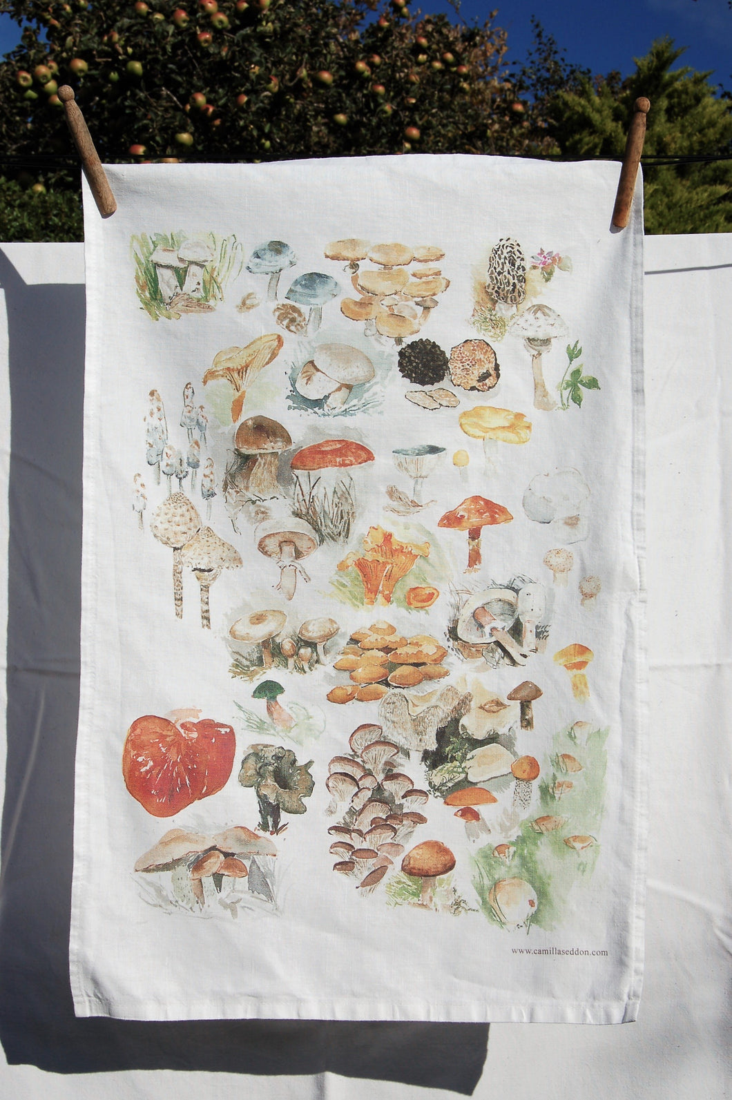 Edible Mushrooms Tea towel