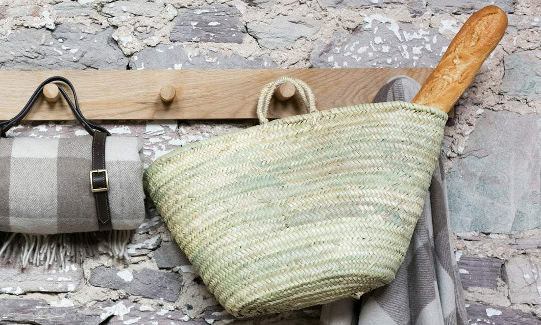 Straw Basket with Natural Handles