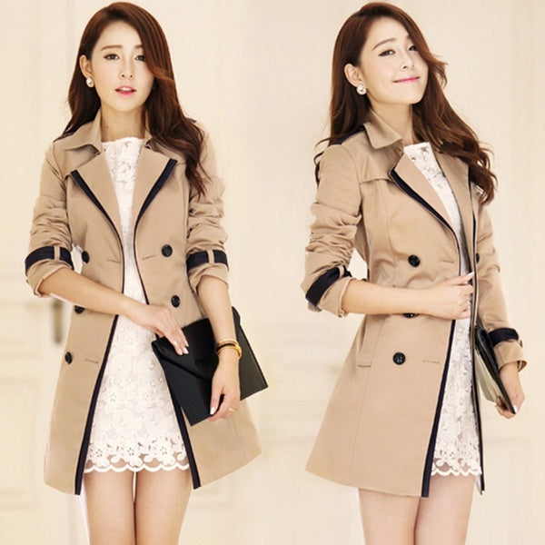 2017 Spring Women's Trench Coat Jackets Double Breasted Overcoat Trenchs