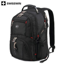 Load image into Gallery viewer, Fashion Swiss gear Waterproof Travel Bag Laptop Backpack Computer Notebook School Bag (Color: Black)