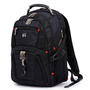 Fashion Swiss gear Waterproof Travel Bag Laptop Backpack Computer Notebook School Bag (Color: Black)