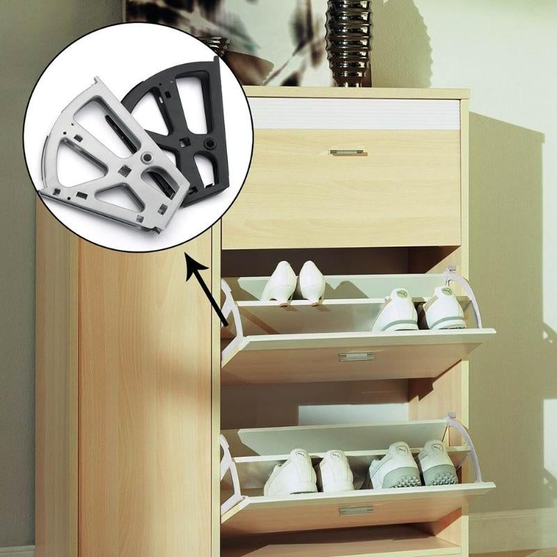 2pcs Iron Shoe Flip Frame Rack Shelf Shoes Cabinet Hinge