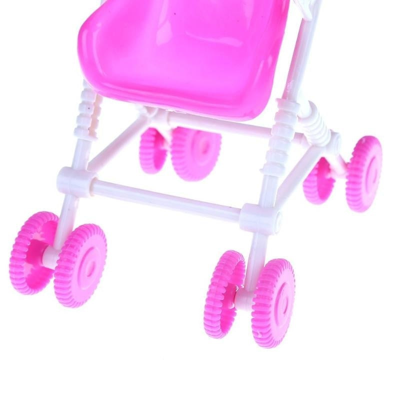 Pink Romantic Baby Stroller Infant Carriage Trolley Nursery Toy for baby Doll Accessory Girls Toy Gift for Girls Pretend Game