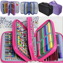 Load image into Gallery viewer, 72 Slots 4 Layer Pencil Holder Storage Bag with Zippers for School Office Student