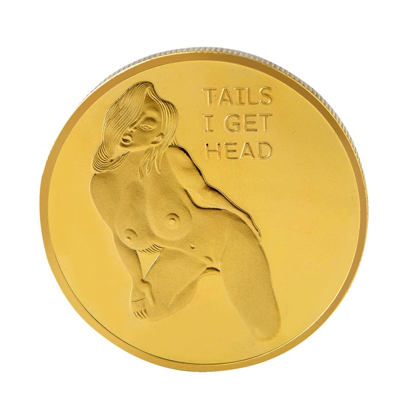 Woman Coin Challenge Coin Heads Tails Commemorative Coins Collection Arts Souvenir Gift Coins (Golden)