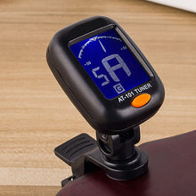 Load image into Gallery viewer, Digital Chromatic LCD Clip-On Electric Tuner for Bass, Guitar, Ukulele, Violin