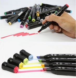 30/36/40/ Animation Design art mark pen Alcohol paint Marker pen manga cartoon graffiti sketch Double Headed Ar markers set designers posca