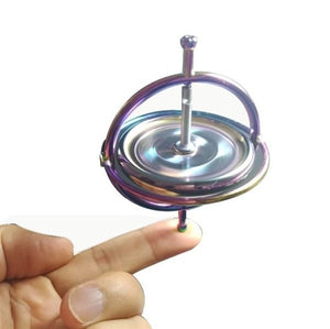 Metal Gyroscope Spinner Gyro Science Educational Learning Balance Stress Toys gift Modern Simple Office