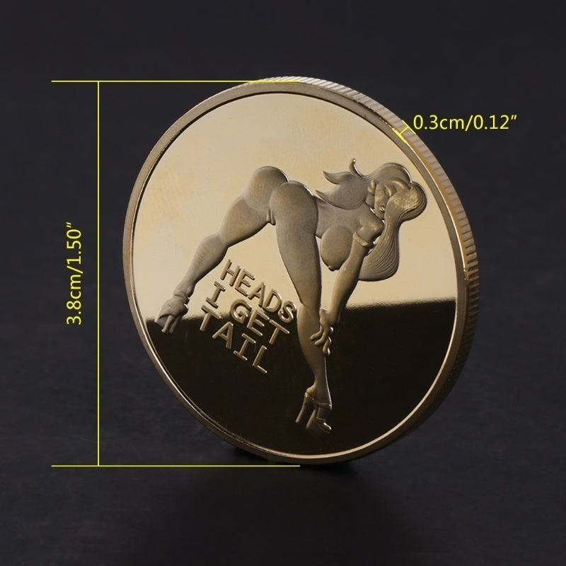 NEW Style Souvenir Coins Funny Coins Lucky Girl/ Ball Breaker Billiard/ Good Luck Gold Plated Coins Collection Arts Gifts