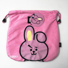 Load image into Gallery viewer, Kpop BTS BT21 Bangtan Boy Cartoon Pocket Comestic Drawstring Cute Bag