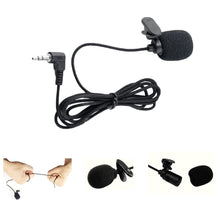 Load image into Gallery viewer, Mini Portable Clip-on Lavalier Microphone 3.5mm Jack Wired Condenser Microphone for Smart Phone Computer Laptop