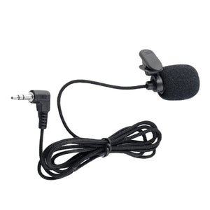 Mini Portable Clip-on Lavalier Microphone 3.5mm Jack Wired Condenser Microphone for Smart Phone Computer Laptop