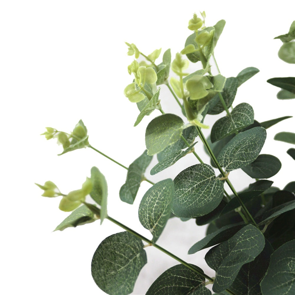 1 Bouquet Wedding Ornament Party Decor Home Decoration Floral Arrangement  Green Money Leaves Simulation Grass Artificial Eucalyptus Fake Plants