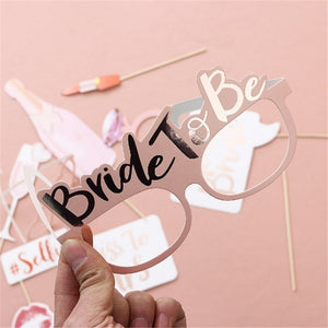 Wedding Decoration Photo Booth Prop Hen Party Team Bride To Be Photobooth Bridal Shower Bachelorette Party Supplies  10 Pcs/lot