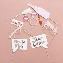 Load image into Gallery viewer, Wedding Decoration Photo Booth Prop Hen Party Team Bride To Be Photobooth Bridal Shower Bachelorette Party Supplies  10 Pcs/lot