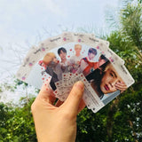 8pcs/set Kpop BTS Member  PVC Clear Photo Card Transparent Jungkook Jimin Suga Photocard Cards