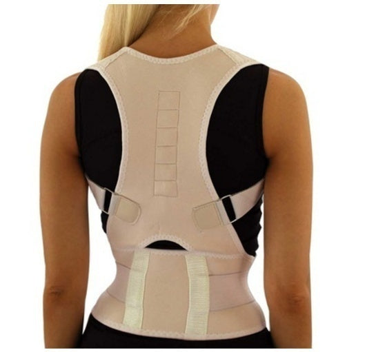 New Sitting Posture Corrector Adjustable Magnetic Shape Body Shoulder Brace Belt Men And Women Back Vertebra Correct Therapy New Design Hot Selling