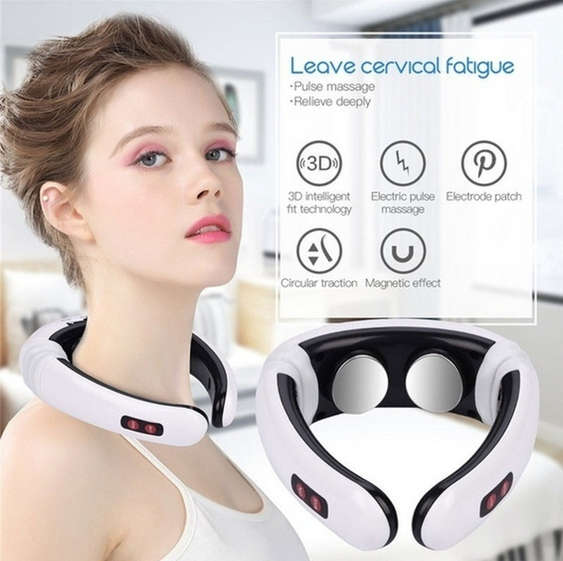 Neck 3D smart massager and body pain relief digital treatment acupuncture back cross machine