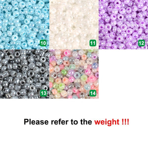 Approx. 1000 pcs Cream Color Czech Glass Beads for Jewelry Making Kralen Spacer Loose Beads DIY Craft Sewing Wholesale
