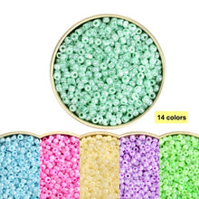 Load image into Gallery viewer, Approx. 1000 pcs Cream Color Czech Glass Beads for Jewelry Making Kralen Spacer Loose Beads DIY Craft Sewing Wholesale