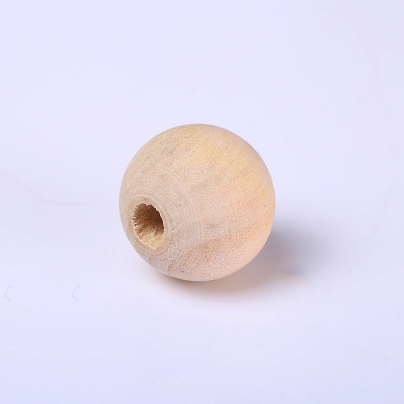 6/8/10/12/14/16/18/20/25/30mm Natural Ball Wooden Beads Pendant Connectors Round Baby Toy Beads Wood For Charm Jewelry Making Handmade