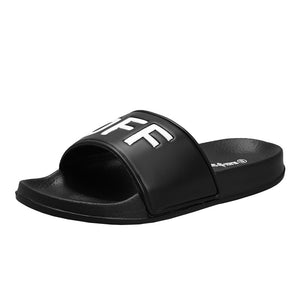 Summer Fashion Men and Women Unisex Slide Sandals Fuck Off Indoor & Outdoor Slippers