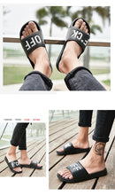 Load image into Gallery viewer, Summer Fashion Men and Women Unisex Slide Sandals Fuck Off Indoor & Outdoor Slippers